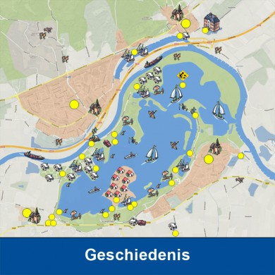Rivierverlegging. Een van de meest ingrijpende wijzigingen in deze regio is wel de rivierverlegging geweest die in 1969 is afgerond. Deze maatregel was onderdeel van de Rijnkanalisatie. KLIK OP DE AFBEELDING voor meer informatie.
