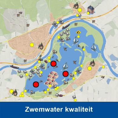 Het zwemwater van het Rhederlaag wordt in het zomerseizoen iedere twee weken gecontroleerd door Rijkswaterstaat op kwaliteit en helderheid. KLIK OP DE AFBEELDING voor meer informatie over het Milieu Klachten en Informatie Centrum (MKIC).