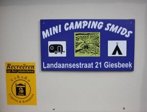 Minicamping Smids is een gezellige familiecamping.