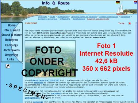 Website Rhederlaag met een voorbeeld van een van de foto's