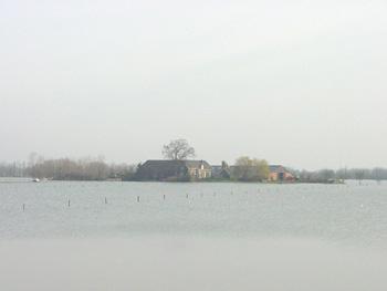 Fraterwaard 31 maart 2001 - Hoogwater