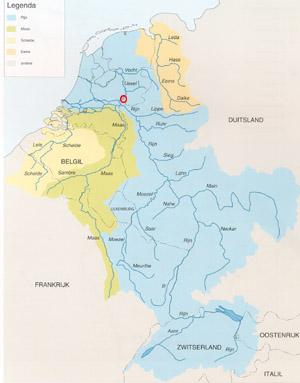 Het stroomgebied van de Rijn