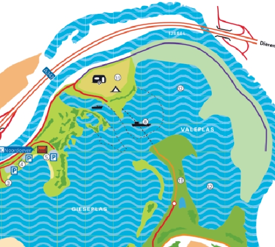 Voetveer Recreatiepark de Veerstal naar Giesbeek