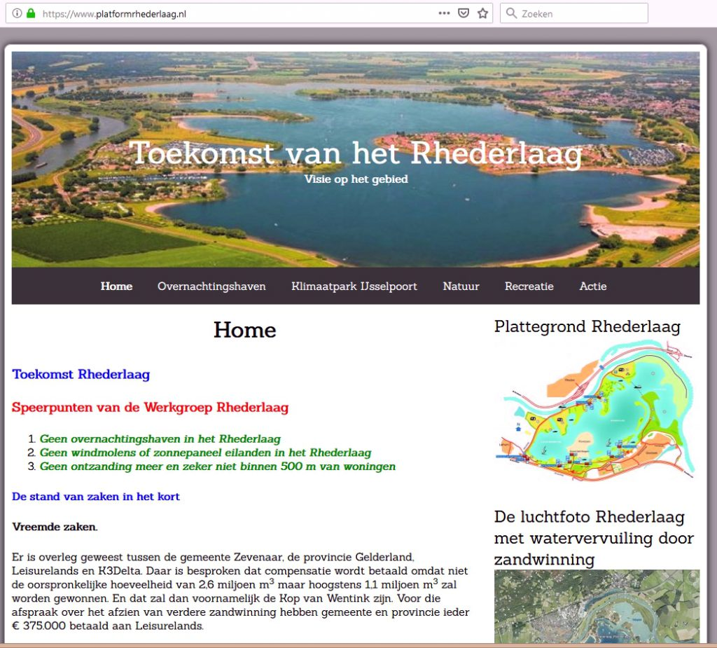 Website Platform Rhederlaag